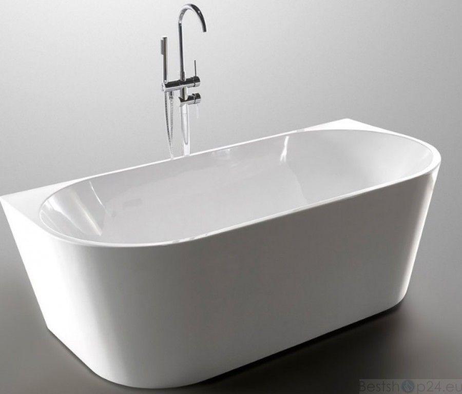 ovale freistehende vorwand badewanne massi wall 170x80cm bad pinterest badewannen. Black Bedroom Furniture Sets. Home Design Ideas