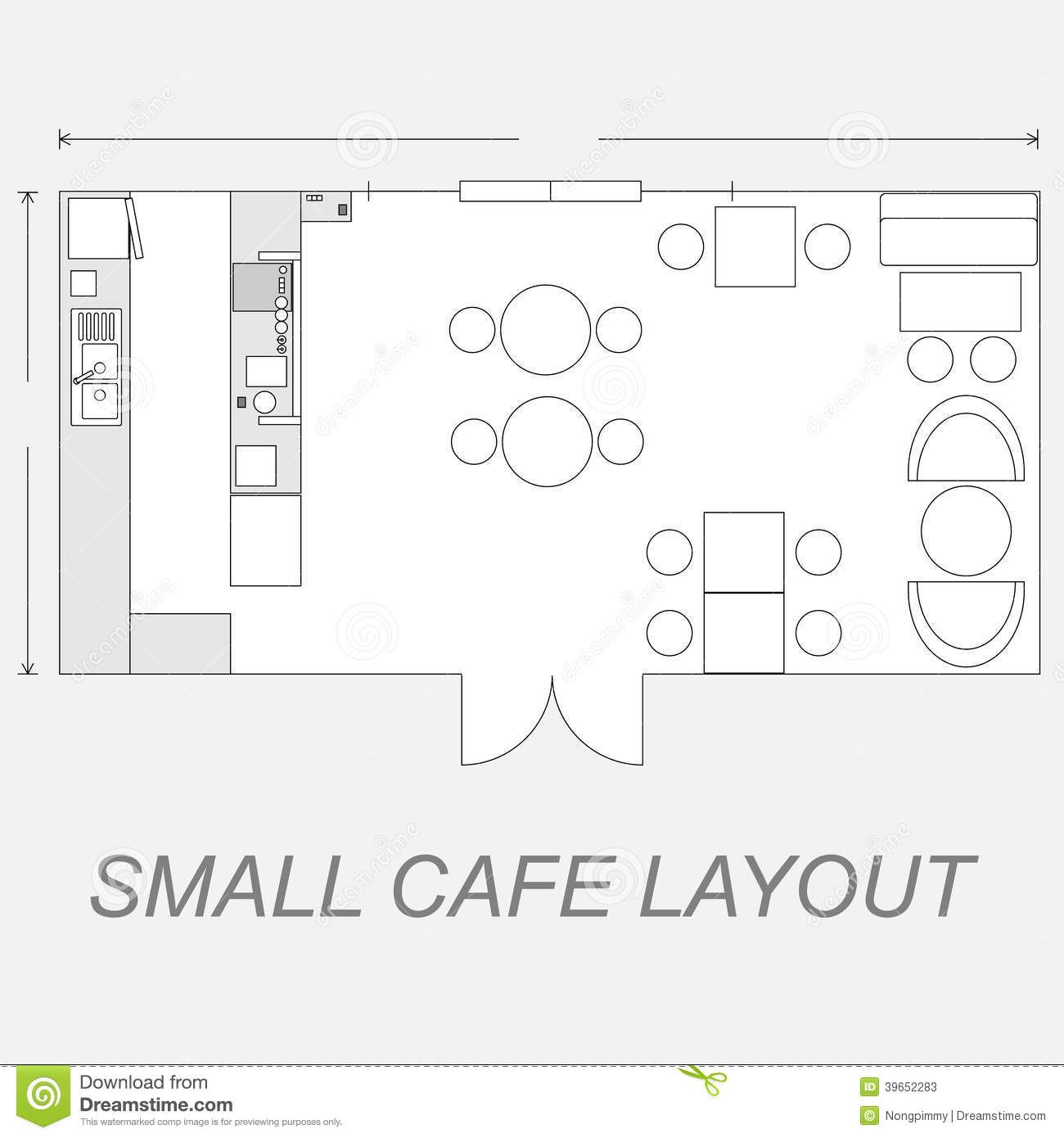 Small Cafe Layout Stock Vector