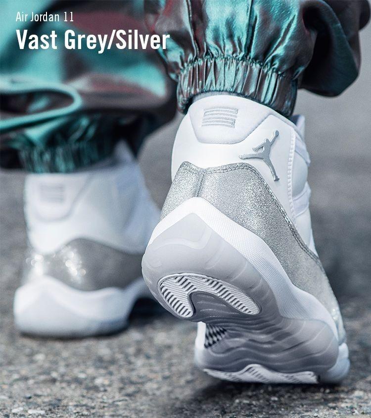 Metallic Silver 11s   Air jordans, Puma