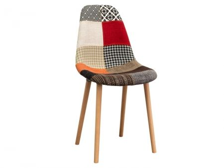 gina patchwork pair of fabric dining chair - Fabric Dining Chairs