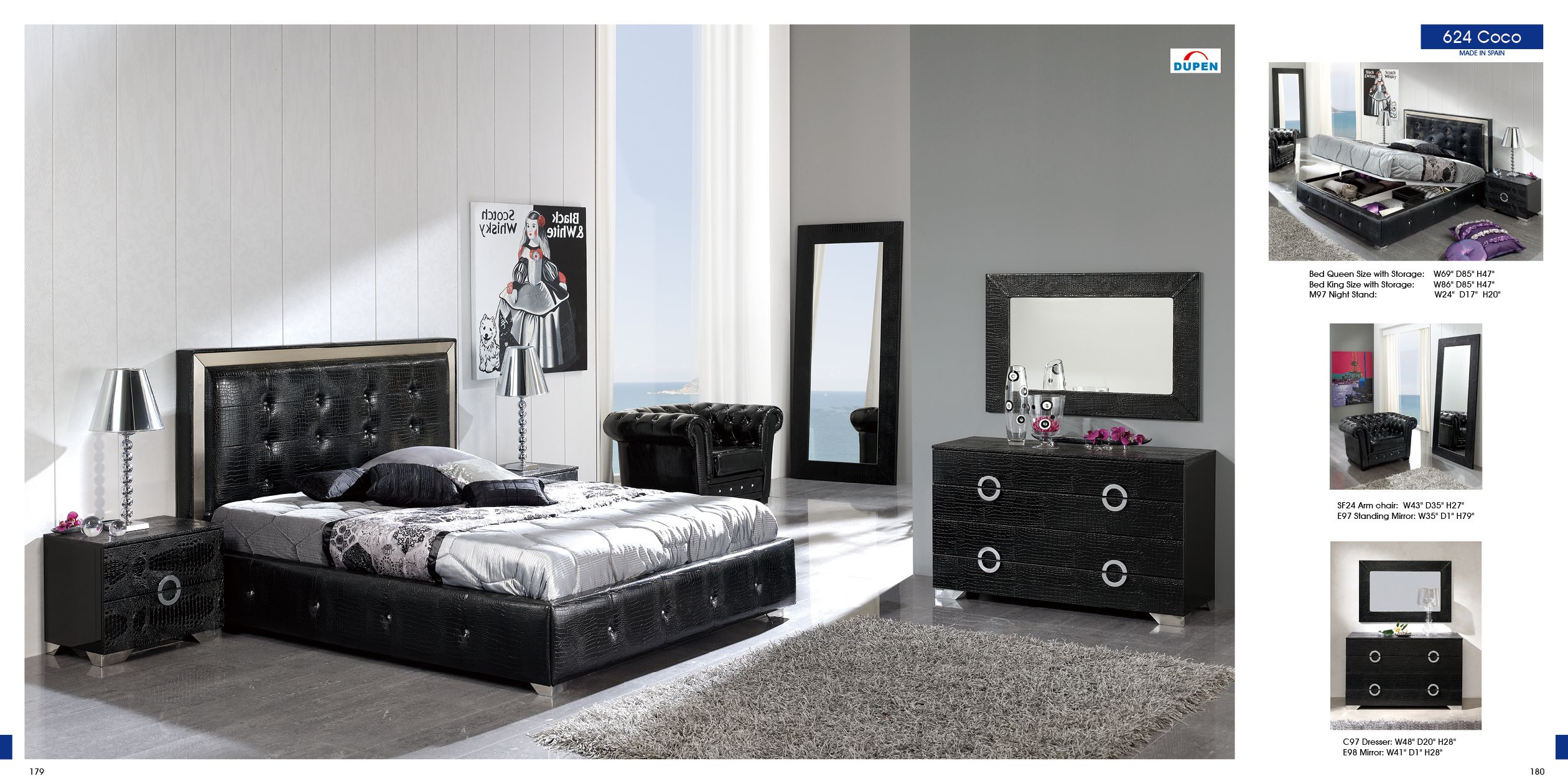 Exceptionnel Bedroom Furniture Modern Bedrooms Coco Black Decobizz Spare Purple And