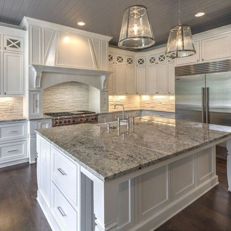 Must Have Farmhouse Kitchen Decor Ideas: 55+ Luxury White Kitchen Cabinetry Ideas