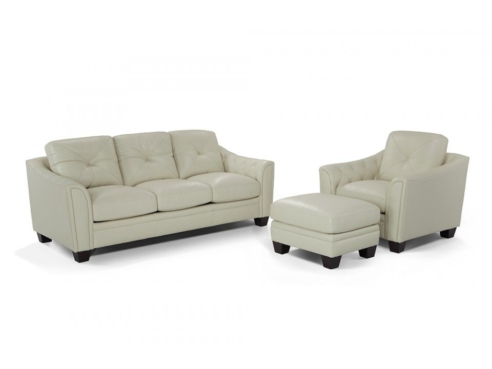 Marisol Leather Sofa Chair Amp Ottoman Chair Ottoman