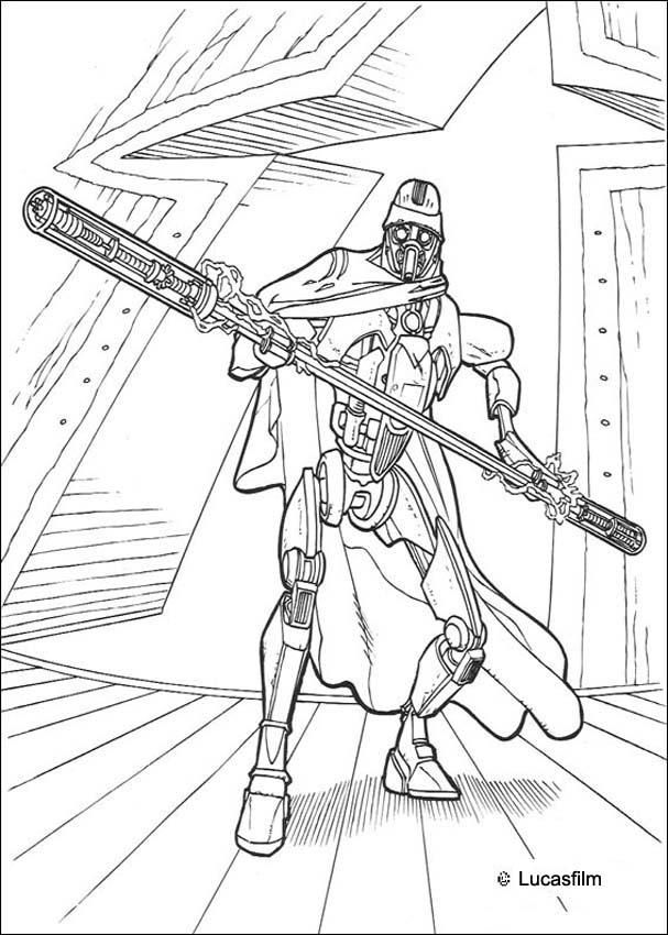 Grievous bodyguard coloring. More Star Wars coloring sheets on ...