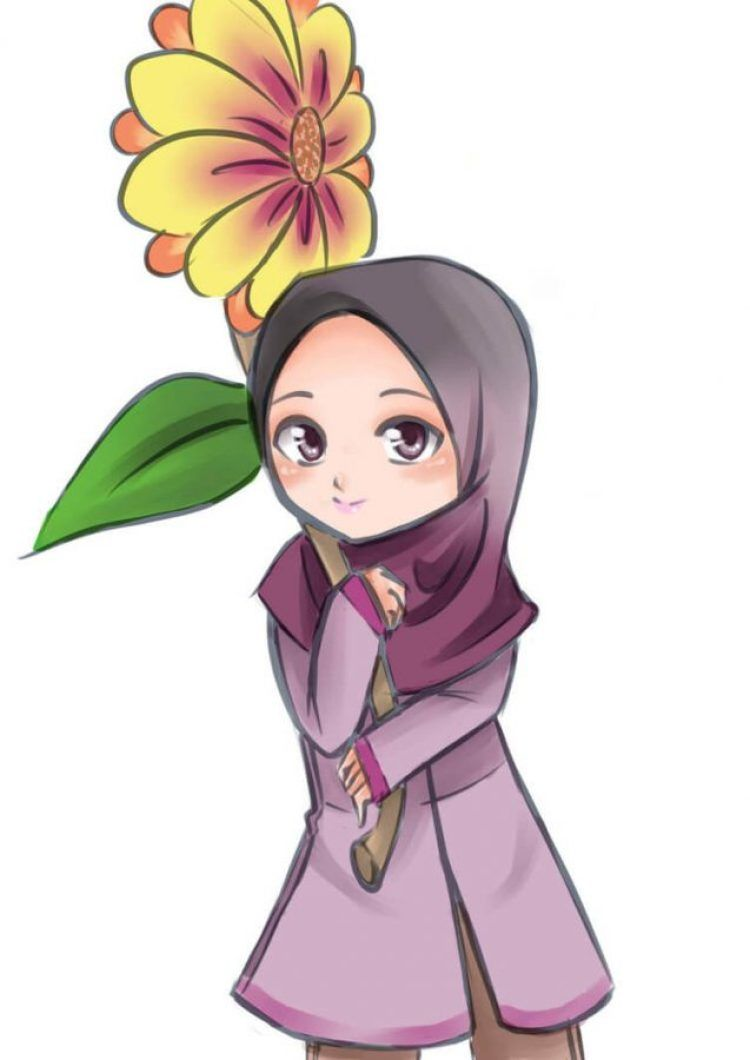 50 GAMBAR KARTUN KEREN Lucu Sketsa Karikatur Muslimah
