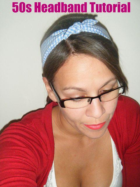 50's headband tutorial pinned