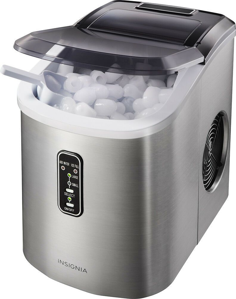 Insignia 26 Lb Portable Ice Maker Stainless Steel All Best