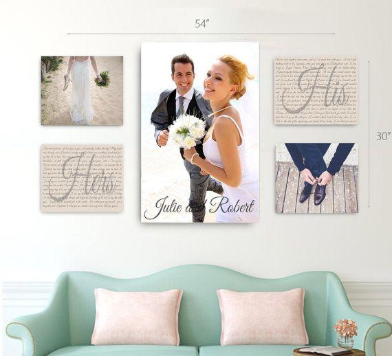 wedding vow canvas display