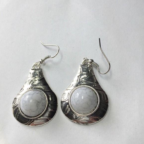 Light gray stone earrings Light gray stone earrings Jewelry Earrings