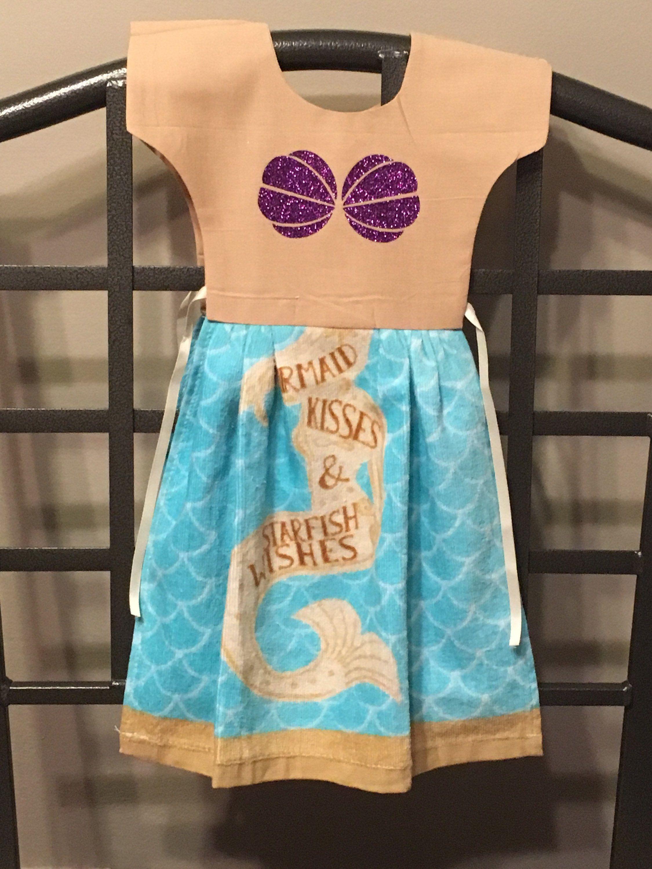 Mermaid Kisses & Starfish Wishes Dish Towel Dress AUTISM FUNDRAISER ...