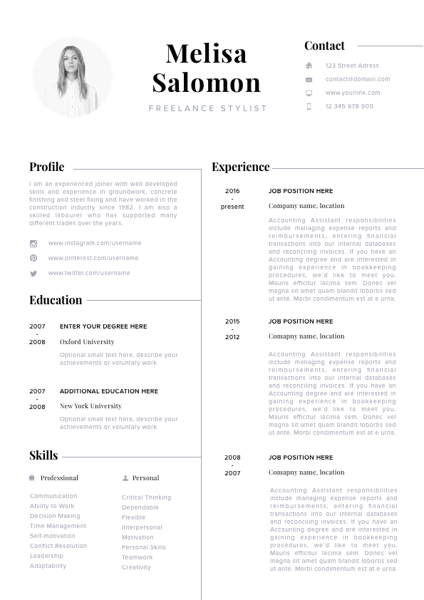 Modern Resume Template Professional Cv Eye Catching Clean And Fresh Look Modern Resume Template Resume Design Creative Resume Template