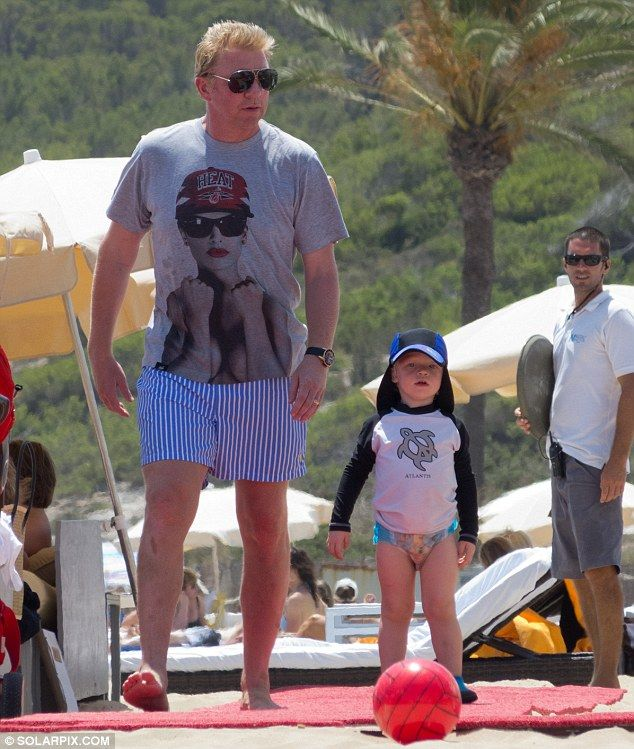 Boris Becker Treats His Family To Sunshine Break In Ibiza Amid