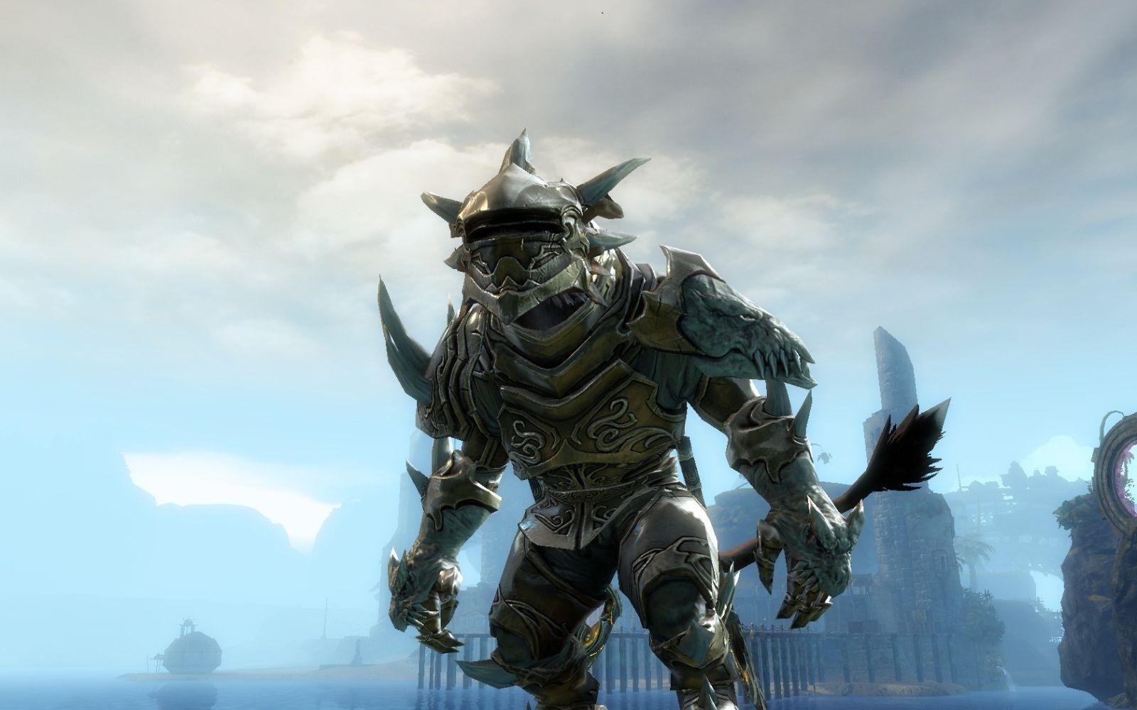 Warrior charr in primeval armor set   Love   Guild Wars 2 in 2019