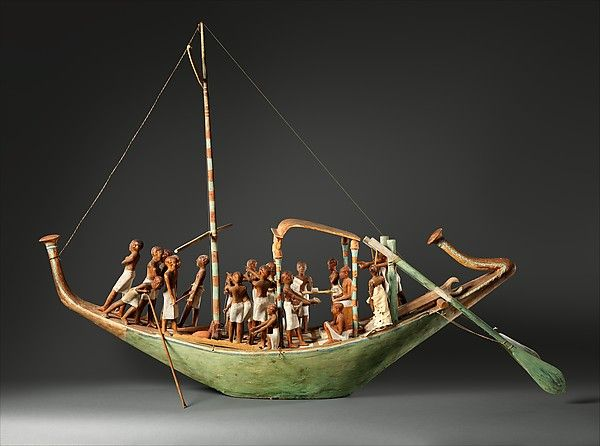 Model Sailboat Period: Middle Kingdom Dynasty: Dynasty 12 Reign: reign of…