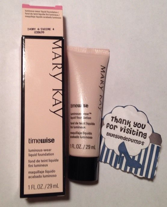 Mary Kay Timewise Luminous Wear Liquid Foundation IVORY 4 full size  1 fl oz #MaryKay