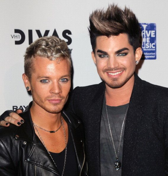 Singer Adam Lambert (R) And Boyfriend TV Personality Sauli