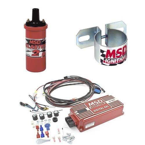 Msd Ignition Kit Digital 6al Box Blaster 2 Coil Universal Coil Bracket Ignition Coil Car Parts And Accessories Electric Radiator Fan