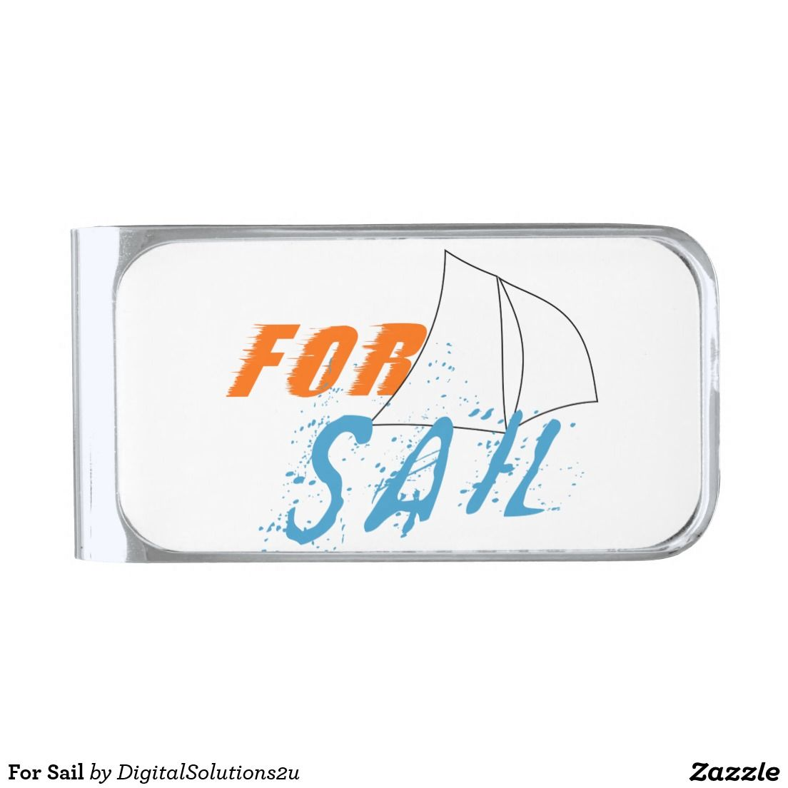 For Sail Silver Finish Money Clip