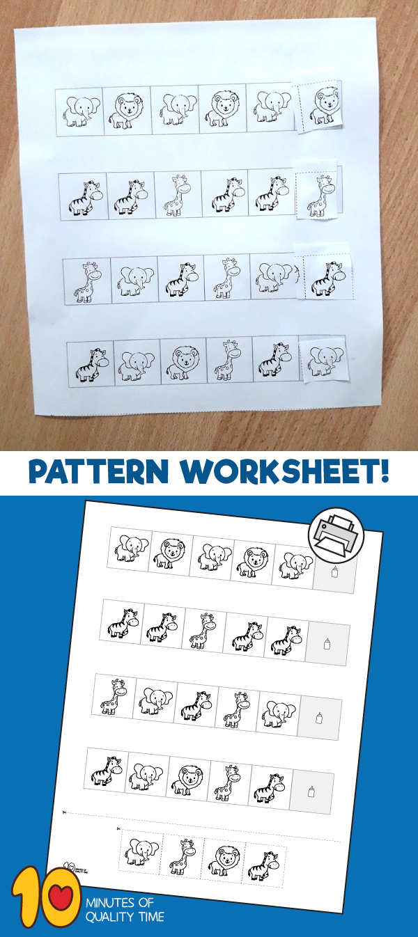 Jungle Pattern Worksheet #junglepattern