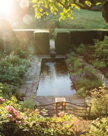 A constantly evolving garden in Connecticut treads a fine line between romantically loose and tightly manicured, firmly grounded by the clipped evergreen geometry of yew and boxwood.
