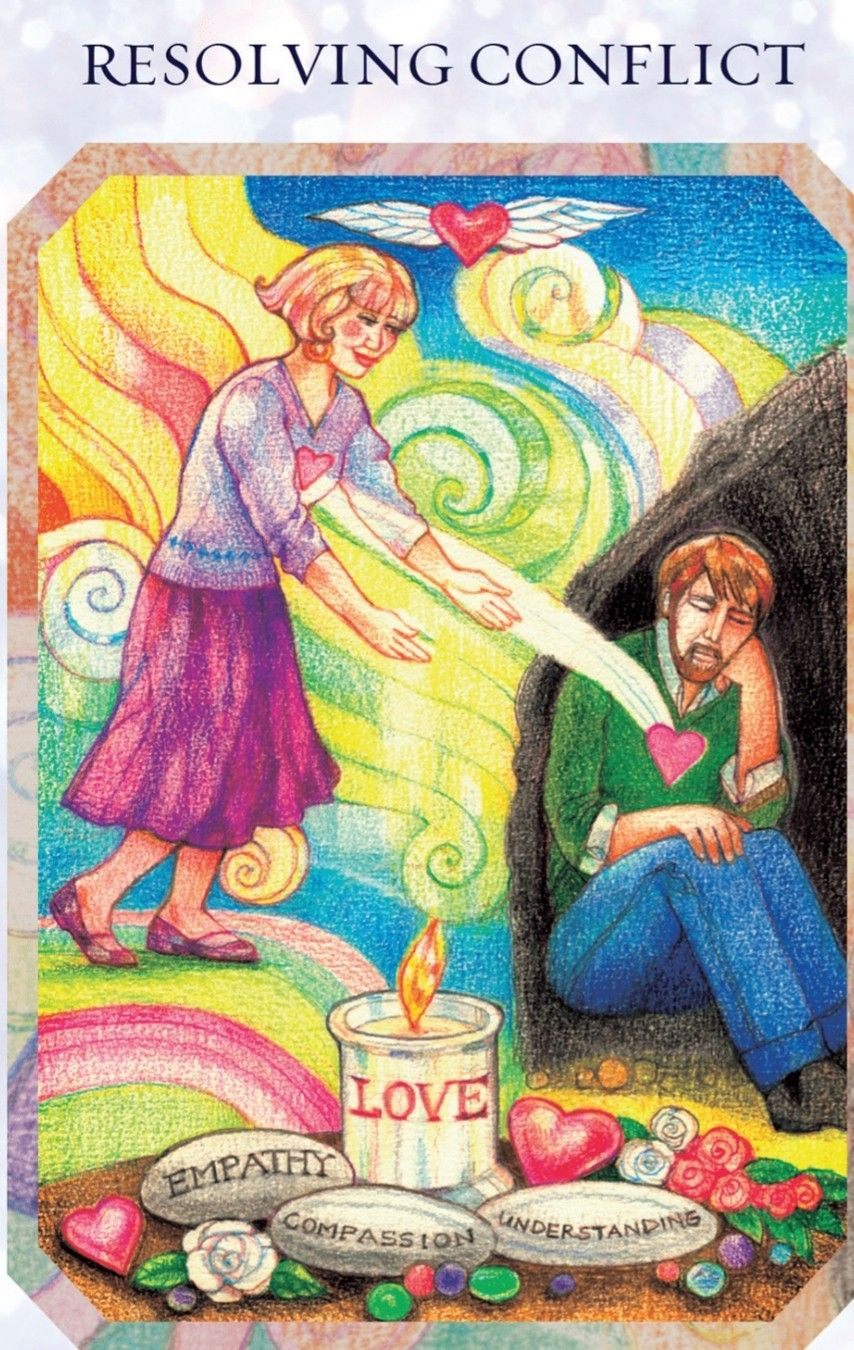 True Love Oracle Resolve Conflict Oracle Cards Angel Oracle Cards Love Cards