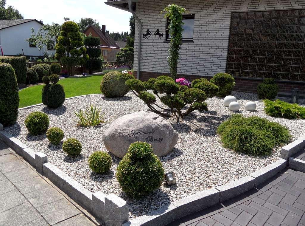 bilder von modernen vorgarten mit kies – colorseven, Garten und erstellen