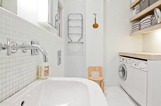 washer dryer bathroom design swedish bathroom via skeppsholmen rh pinterest com