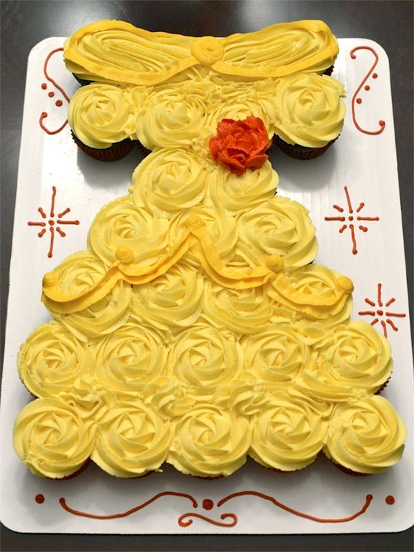 cupcake recipes for bridal shower%0A Belle  from Beauty and the Beast  Dress Cupcake Cake bridal shower