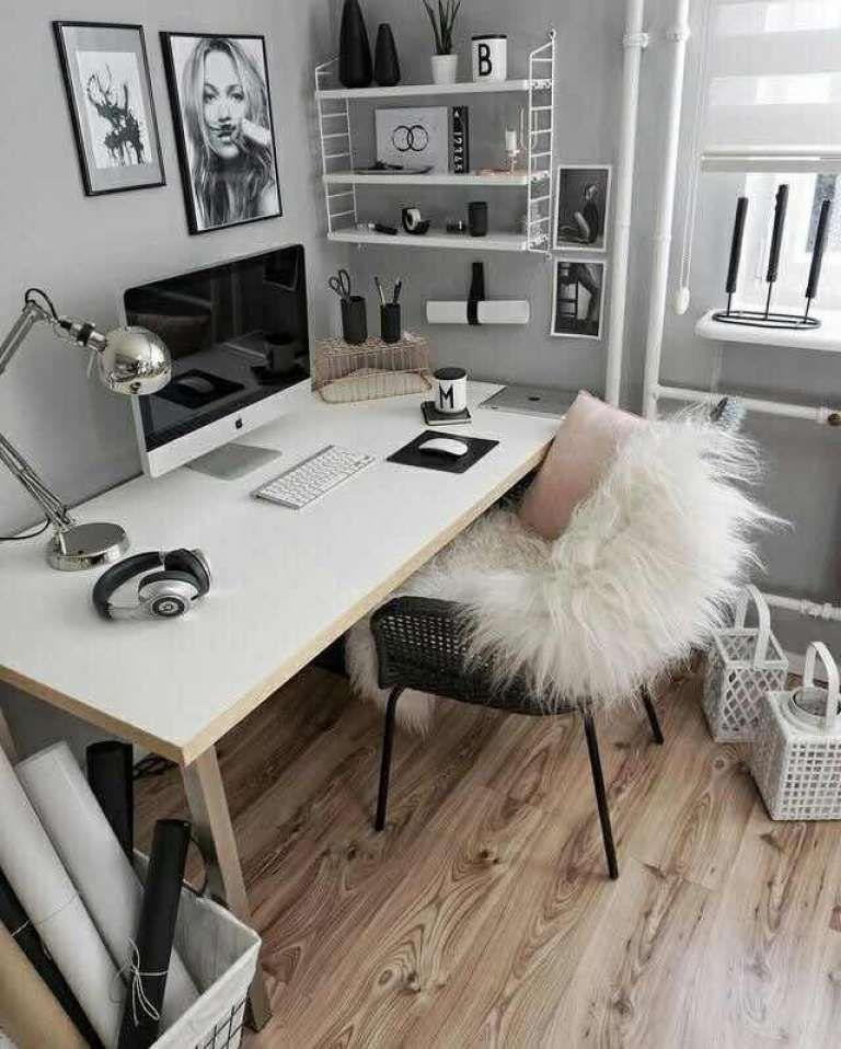 25 escritorios modernos juveniles que te inspirar n for Decoracion de escritorios