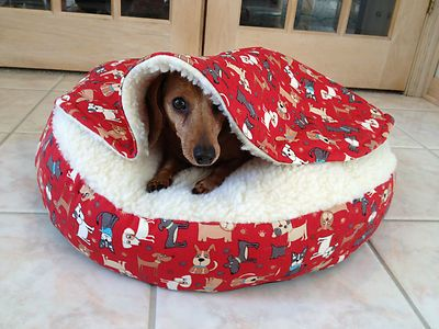 Dachshund Small Dog Bed Snuggle Bed For Burrowing Dog Red Doxies Ebay Dog Beds For Small Dogs Dog Bed Dachshund