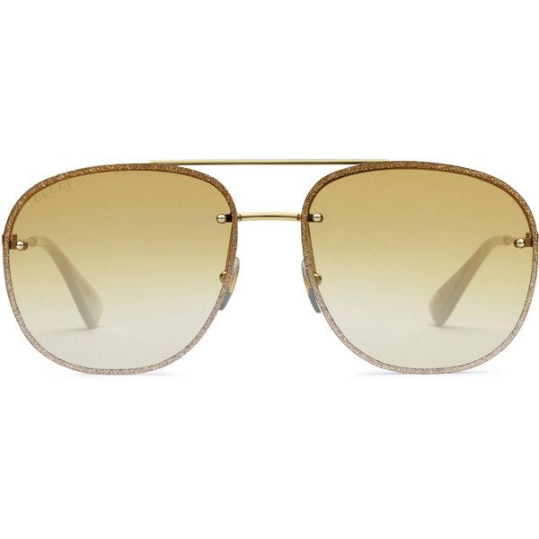 92661bc7290 Gucci Square-Frame Metal Sunglasses ( 355) ❤ liked on Polyvore featuring  men s fashion