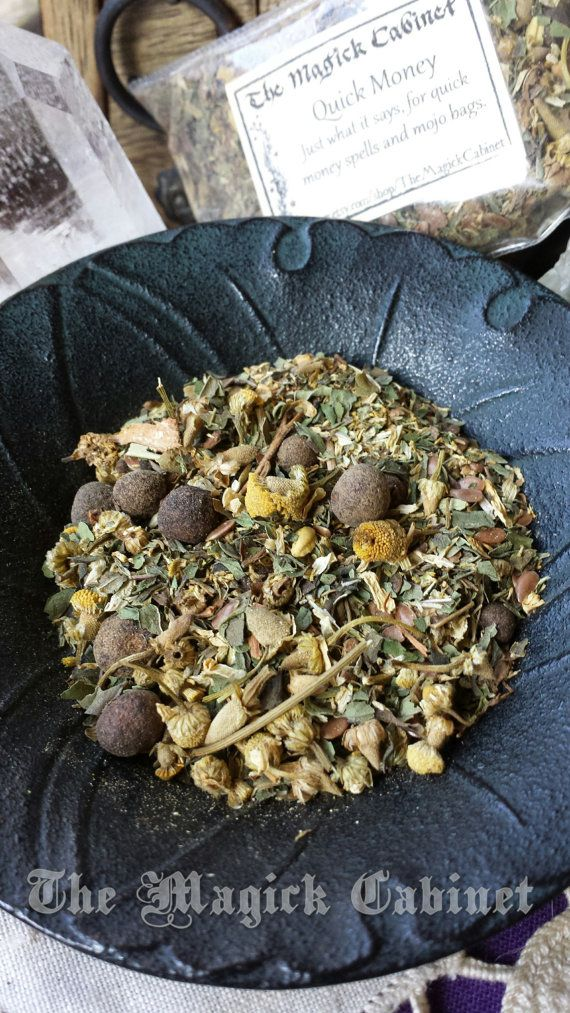 Golden Alchemy Herbal Mix Money Drawing Witchcraft Supply Wicca