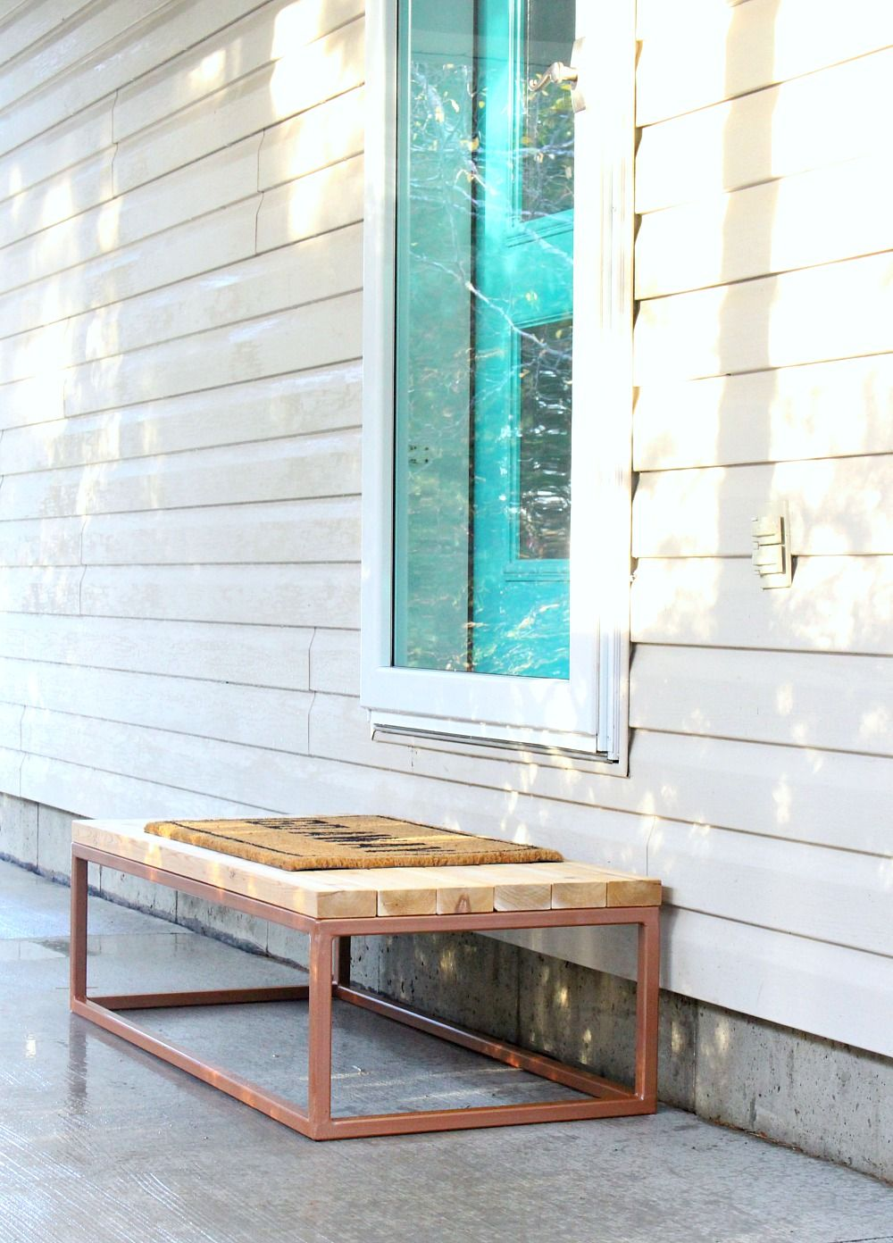 DIY Wood 2x4 Step with Welded Base | Front steps, Cedar wood and Woods