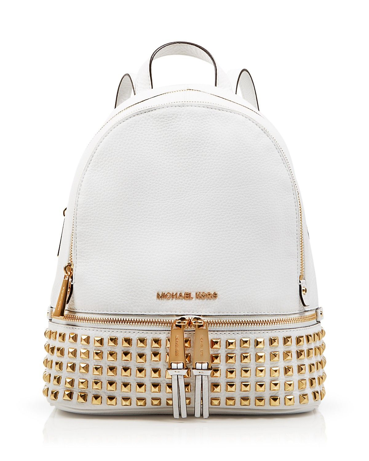 fd12c0dd4aaf50 Michael Kors' Small Rhea Studded Backpack is perfect for storing your  railway tickets! #100percentbloomies @bloomingdales