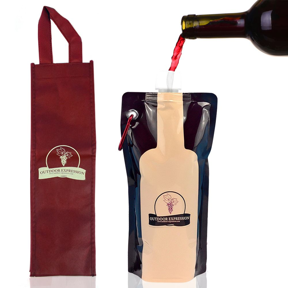The Ever Versatile Foldable Wine Bottle From Outdoor Expression Comes With A Free Wine Carrier Bag Only 9 95 Wine Carrier Bag Foldable Wine Bottle Free Wine