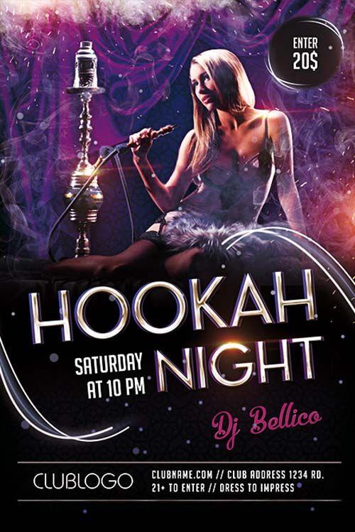 Plantilla Gratis Psd Hookah Night Lounge  Hookah