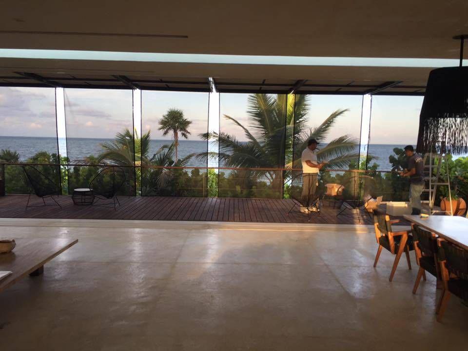 Fotos de balcones y terrazas de estilo mediterraneo  toldos