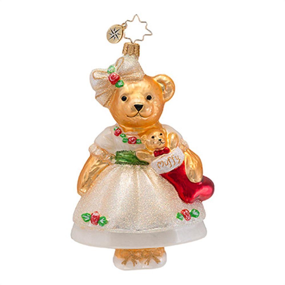 Rose christmas ornament - Radko Ornaments Muffy Vanderbear Christmas Ornament Muffy Christmas Rose Bear