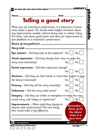 This activity sheet can be used to evaluate and give feedback on a - performance evaluation