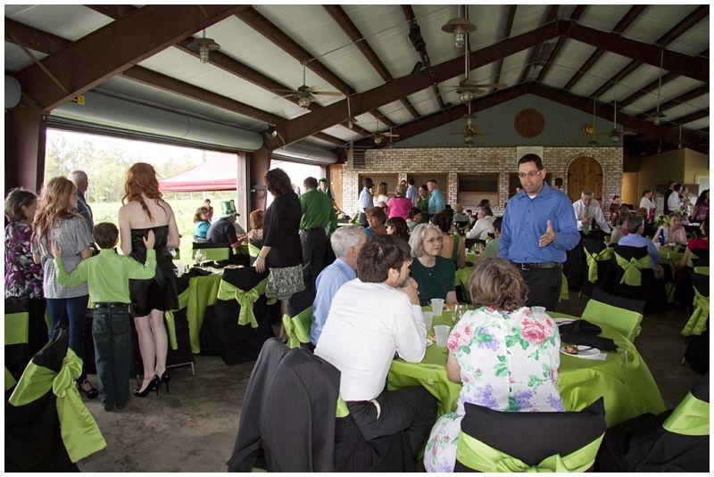 St  Patrick's Day wedding at Haak Winery in Santa Fe Texas