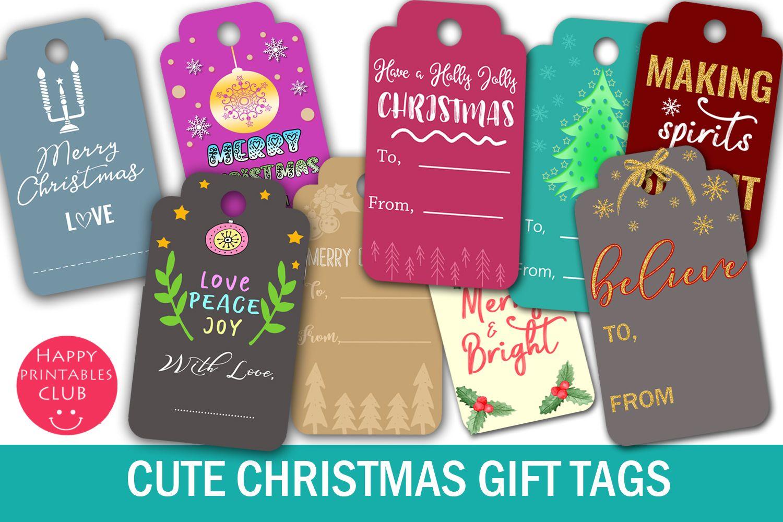 Christmas T Tags Printable Christmas T Tags T