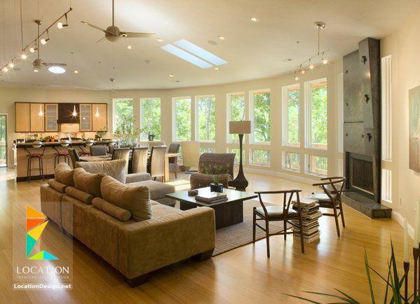 كولكشن مطابخ مفتوحه على الصاله للشقق الحديثة لوكشين ديزين نت Living Room And Kitchen Design Open Living Room Elegant Living Room Furniture