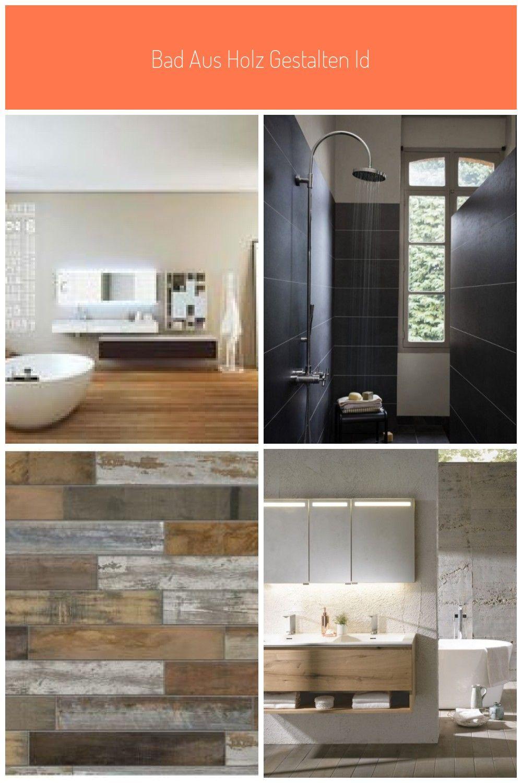 Bad Aus Holz Gestalten Ideen Badezimmer Holzboden Beton In 2020 Bathroom Bathtub