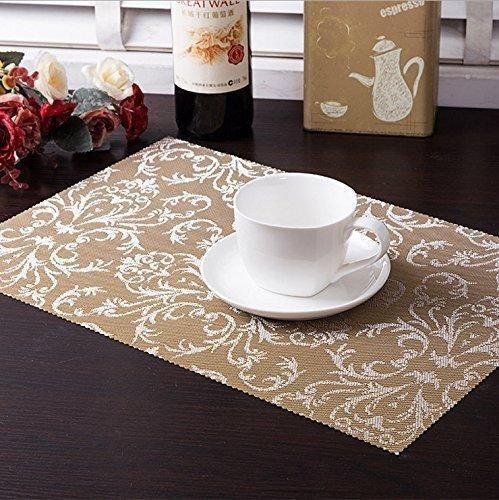 Table Mats (Set Of 6) EgoEra Place Mats Sets Table Place Dinner Mats  Washable