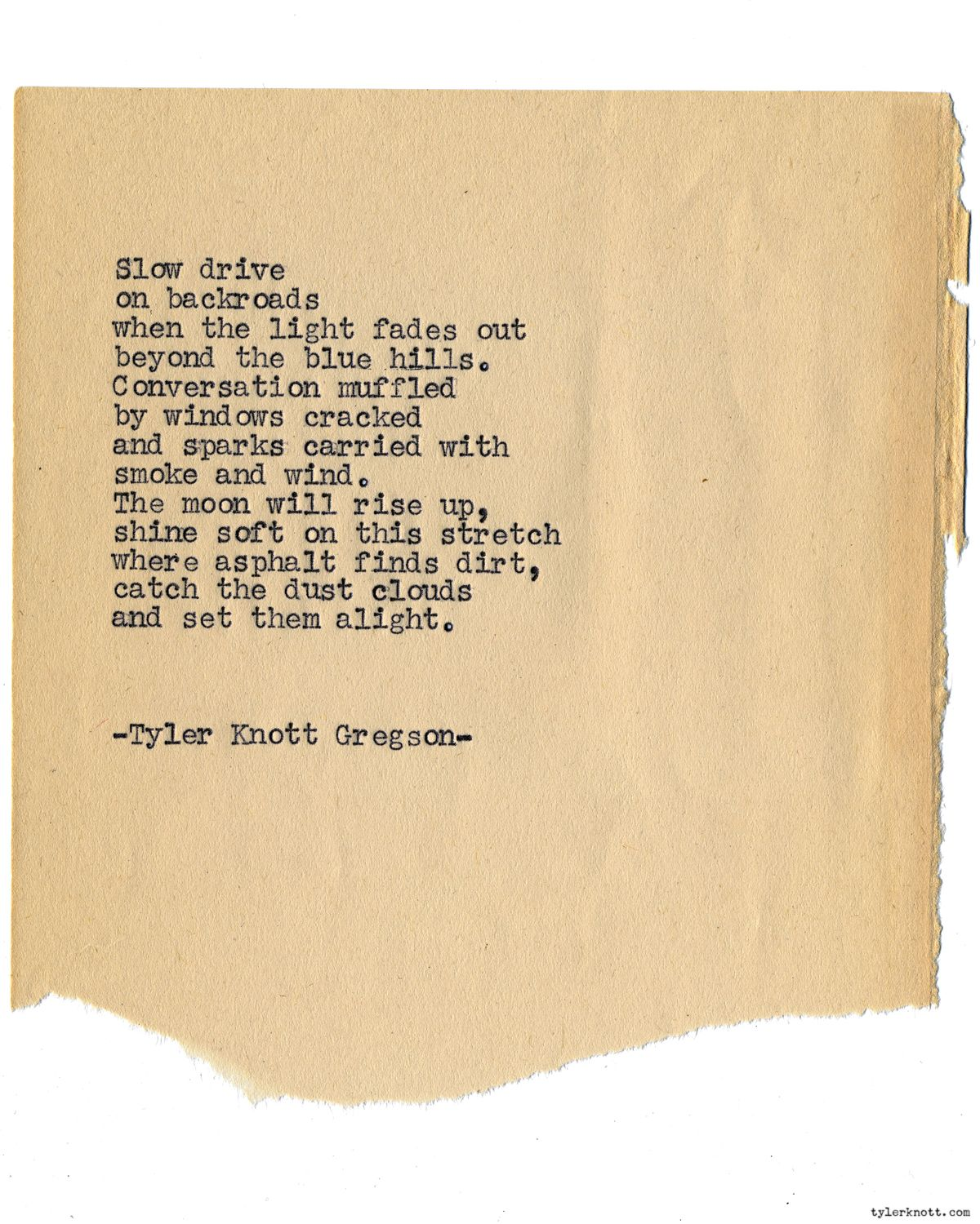 Typewriter Series 1264 By Tyler Knott Gregson All The Words Are