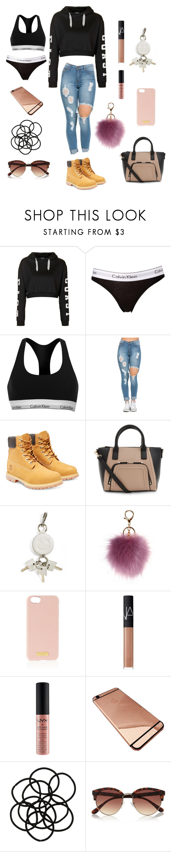 """""""Untitled #4"""" by ar-rose16 ❤ liked on Polyvore featuring Topshop, Calvin Klein, Timberland, Alexander Wang, Henri Bendel, NARS Cosmetics, NYX, Monki and River Island"""