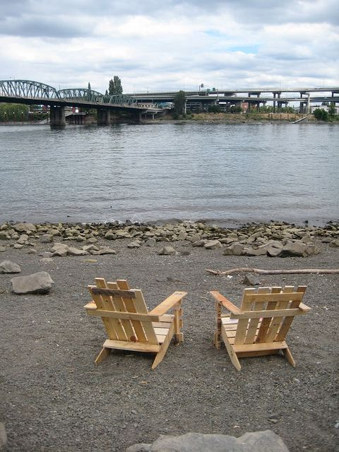 Repurposed Goods Pallet Adirondack Chairs In Portland Oregon Flickr Photo Sharing