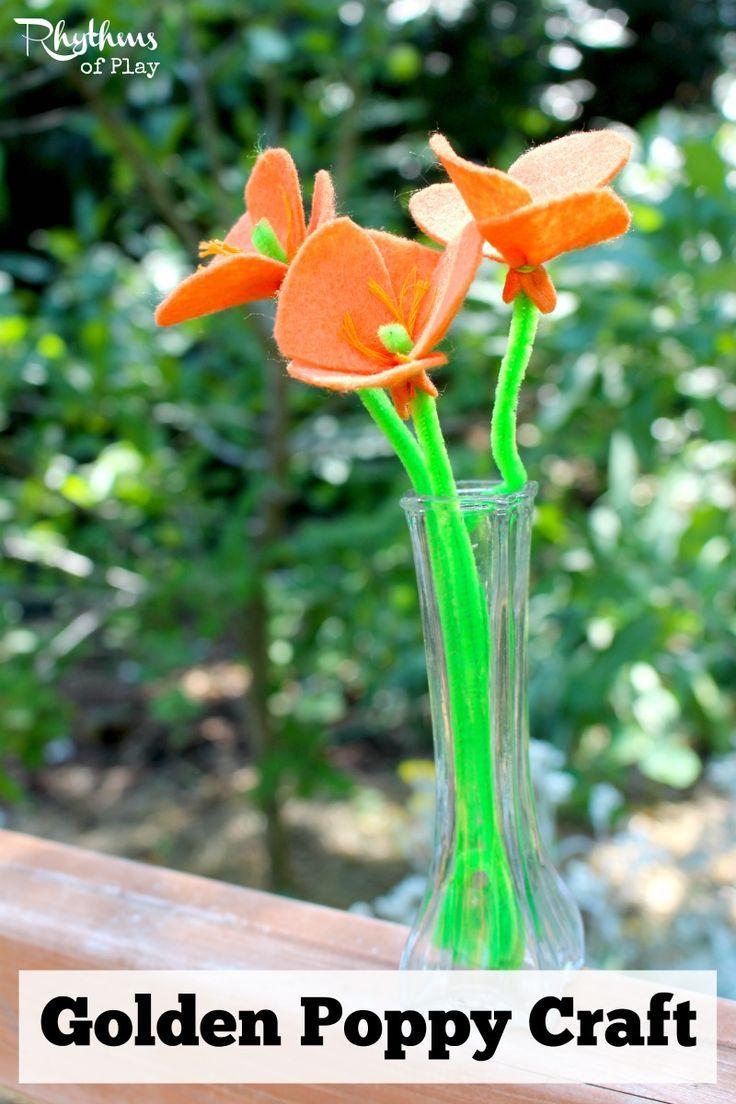 Golden Poppy Craft Easy Craft Ideas Pinterest Crafts Crafts