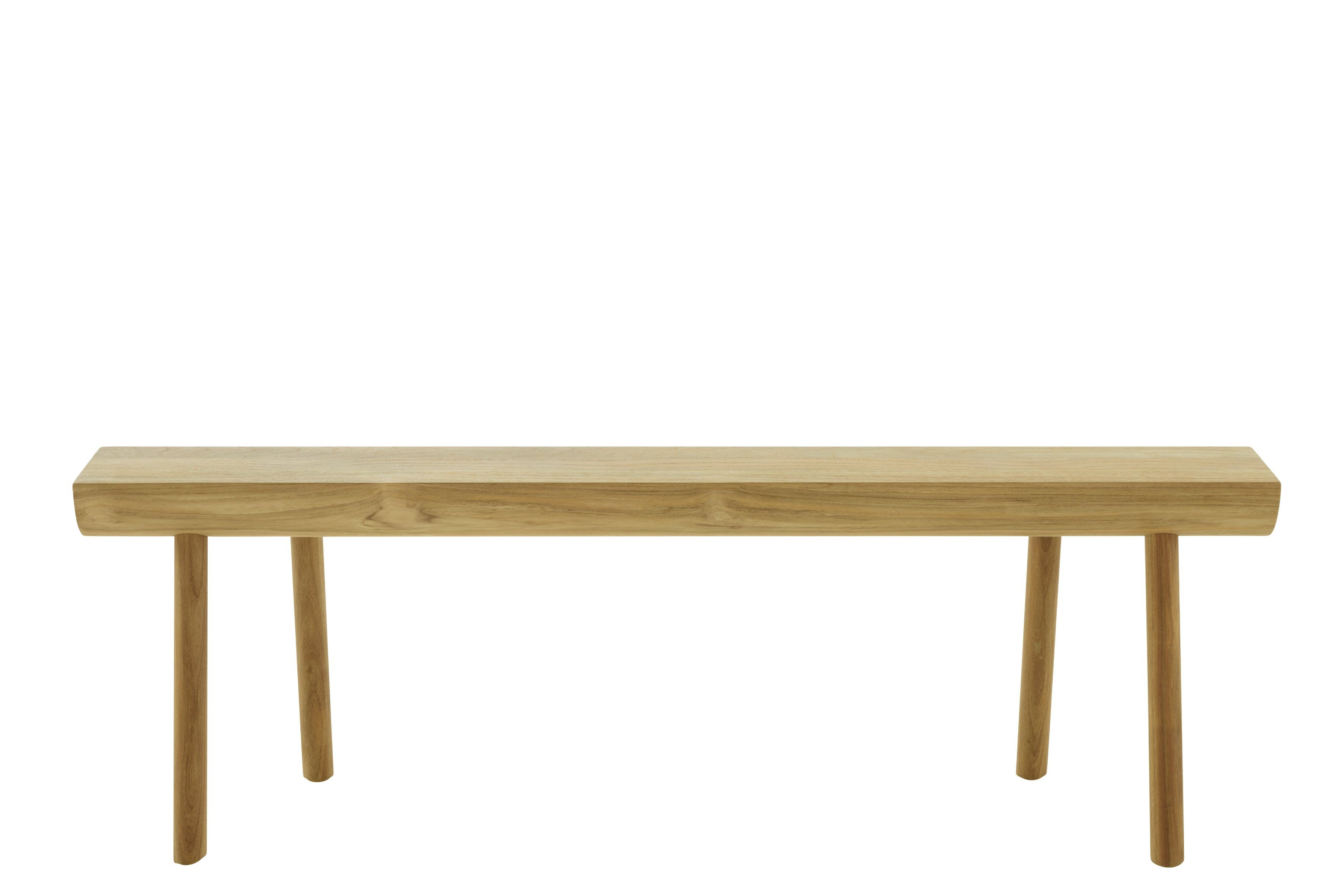 "Teak wooden indoor outdoor bench ""Stick Bench"" for Ligne Roset"
