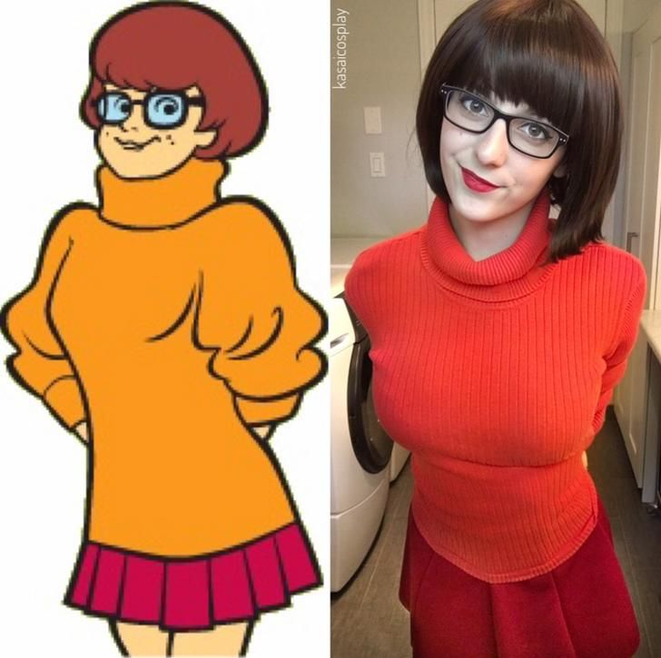 Velma from scooby doo side by side cosplay cosplay - Vera scooby doo ...